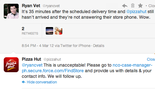 Pizza Delivery FAIL – A Look at @pizzahut's Customer Service